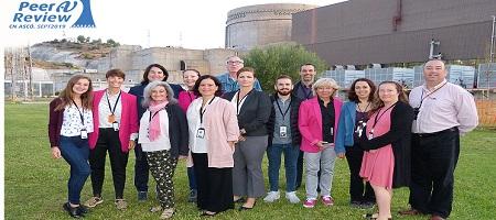 Intérpretes en la central nuclear de Ascó durante la auditoría de WANO